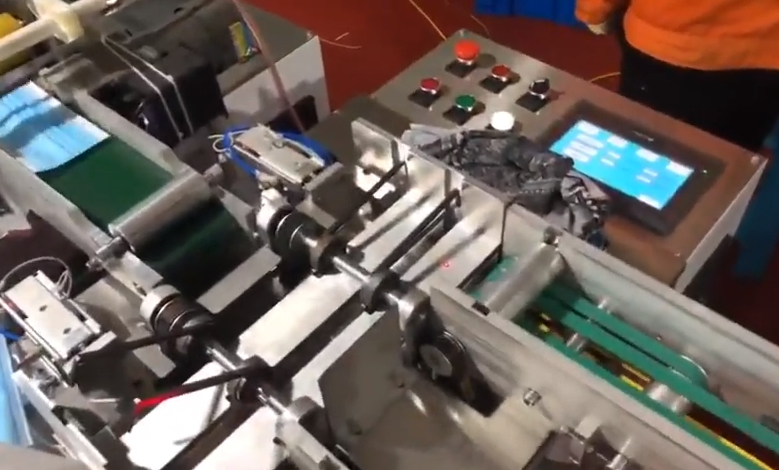 One to one automatic mask machine working video